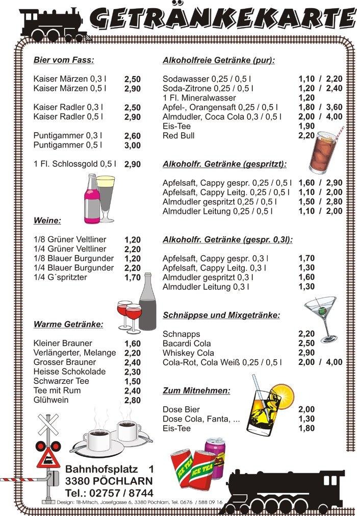 Getränkekarte - ERLEBNISLOKAL zum Schwellenwirt, Gasthaus ...
